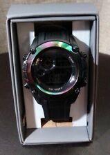 "NEW Men's ""Oil Slick"" LED Digital Alarm  Indiglo Wrist Watch"