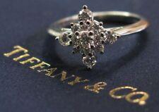 Tiffany & Co Platinum Starburst Diamond Jewelry Ring .41CT PT950 Sz 5.5