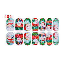 Christmas Nail Art Stickers 3D Design Manicure Tips Decals Wraps Decorate DIY #4