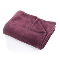 Sainsburys Large Luxury Soft Fleece Throw Blanket In Purple. Warm & Cosy