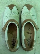 Solidus Luftpolster Germany Leather Walking Golf Comfort Shoes White Beige Sz 7