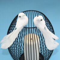 2Pcs Birds Simulation Artificial Feather Doves Feather Park Mall Ornament SO