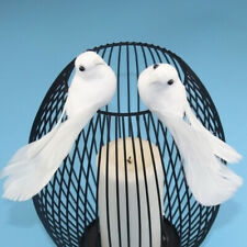 2Pcs Birds Simulation Artificial Feather Doves Feather Park Mall Ornament Vv