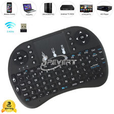 Rii i8 + Mini Funk Kabellos Tastatur Touch Wireless Keyboard PC TV Box Schwarz