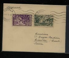 Cameroun  217, 218 on  cover to Switzerland  1938     MS0110
