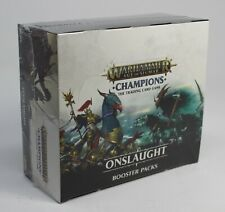 WARHAMMER AGE OF SIGMAR CHAMPIONS ONSLAUGHT BOOSTER BOX SEALED