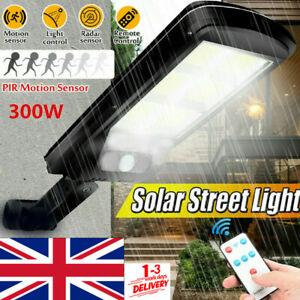 LED Solar Street Light 300W PIR Motion Sensor Outdoor Wall Lamp+Remote Control