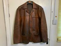 VINTAGE LEVI STRAUSS CASUAL LEATHER JACKET SIZE 3XL YOU WANT PATINA ITS GOT IT