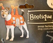 "NEW Dog Halloween Costume Poop Factory wHeadband L 17-19"" Large"