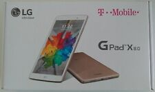 NEW UNLOCKED LG G Pad X 8.0 Gold Tablet, 8 Core Processor, Wi-Fi and 4G LTE