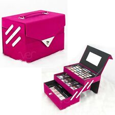 Teens Girls Starter Makeup Cosmetic Kit Pink Storage Case 72 Piece All In One