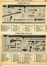 1960 Print Ad of Mossberg Model 351K 346B & 346K Rifle Parts List