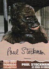 BRITISH HORROR COLLECTION - PS1 PAUL STOCKMAN (KONGA) AUTOGRAPH CARD
