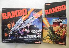 Coleco Rambo Twin-Monted 7.62 mm Machine Gun + 81 mm Mortar