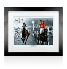 More details for framed richard dunwoody signed photo - grand national winners autograph