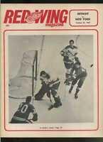 1966/67 Detroit Redwings New York Rangers NHL hockey program  MBX58
