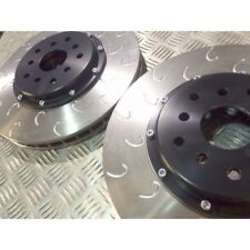 """Mitsibushi Evo 5-9 Front Grooved 2 Piece Discs and Bells """" G Hook"""""""