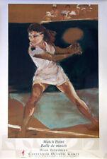 Womens Tennis Atlanta 1996 Olympics Match Point Official Poster by Dian Friedman