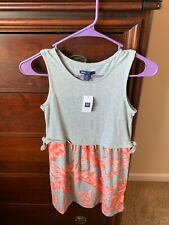 Gap Girls Floral Dress ~ Size 8 ~ Pink/White/Gray ~ New with Tags