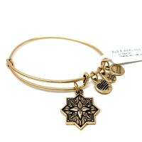 Alex And Ani Healing Love II Gold Charm Bangle Bracelet Expandable New With Tags