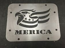 Jeep Wrangler JK Tailgate Spare Tire Delete Plate 2007-2016 JK Merica Eagle