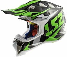 LS2 Subverter MX470 Solid MX Offroad Helmet Nimble Black/Green 2XL