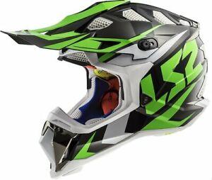 LS2 Subverter MX470 Solid MX Offroad Helmet Nimble Black/Green 2XL