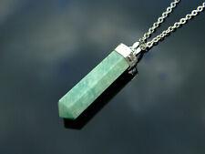 Amazonite Crystal Hexa Point Pendant Natural Gemstone Necklace Healing Stone Cha