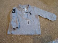 Ralph Lauren Polo Boys 6m Big Pony Long-Sleeved Rugby Shirt Dark Vintage Heather