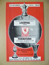 1973 European Cup Winners Cup 2nd RD- LIVERPOOL v FERENCVAROS