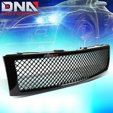 FOR 07-13 SILVERADO 1500 GLOSSY BLACK ABS FRONT UPPER SQUARED MESH GRILLE GUARD