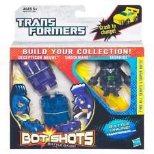 Transformers Bot Shots Triple Pack Decepticon Brawl Shockwave & IronHide Figures