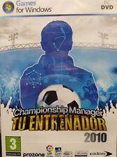CHAMPIONSHIP MANAGER TU ENTRENADOR 2010. JUEGO PARA PC. PAL-ESP. NUEVO, PRECINT.