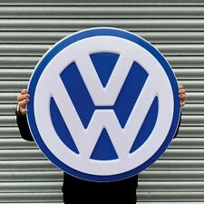VW LOGO BADGE SIGN LED LIGHT BOX GARAGE PETROL GASOLINE GOLF TRANSPORTER CAMPER