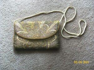 Carla Marchi Gold Beaded Evening Bag