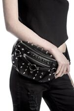 KillStar Co Hexellent Studded Waist Bag Phanny Pack NEW Black Goth Vegan Punk Ro