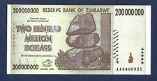 (DN) Zimbabwe 200 Million Dollars 2008 AA P-81 SC UNC