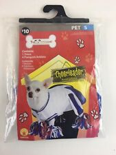 Pet Costumes Dog Cheerleader Halloween Size Small Dress Pompoms New in Package