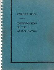 Woody Plant Identification Tabular Key Manual 1941 North States Canada Rare