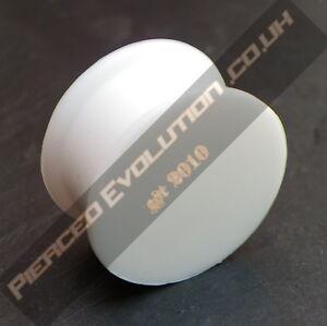 White Solid Silicone Flesh Tunnel Ear Plug Taper Earring Stretcher Plug