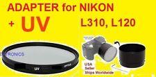 LENS ADAPTER+UV FILTER 67mm tro CAMERA NIKON COOLPIX L120 L310 67 mm L 120 310