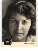 DDR Starfoto Kino Fernsehen 1961 Ingeborg Schuhmacher Ansagerin Dt. Fernsehfunk