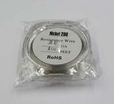 Nickel 200 Resistance 28 Gauge AWG: 0.32mm – Resistance: 0.64ohm/cm 100 ft. wire