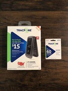 TracFone NIB ZTE Z233 2.8'' 512GB 4G Mobile Phone Free 60min Card