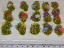 Model flower grass tufts Diorama elements Self Adhesive - Rail wargame basing