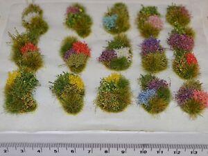 Model flower grass tufts Diorama elements Self Adhesive - Rail wargame basing