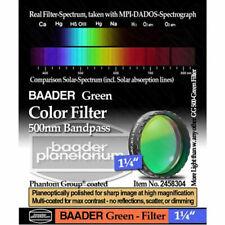 "Baader Premium Eyepiece Filter: Green, 500nm Bandpass - 1.25"" # FCFG-1 2458304"