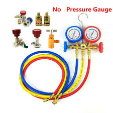 1x Car Air Conditioning Refrigerant Recharge Gas Pressure Gauge R134A Hose Valve
