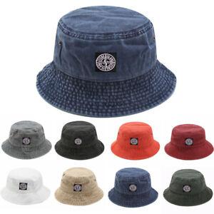 Stone Wash Bucket Hat Men Women Fisherman Hat Beanie Sunhat Travel Hat Travel