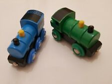 BRIO GREEN GWR AND BLUE LNER TRAINS WOODEN WOOD THOMAS COMPATIBLE